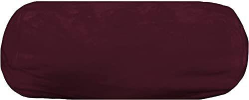 Lovely Casa Poduszka pod kark 20 x 45 cm  miękka  bordowa, poliester