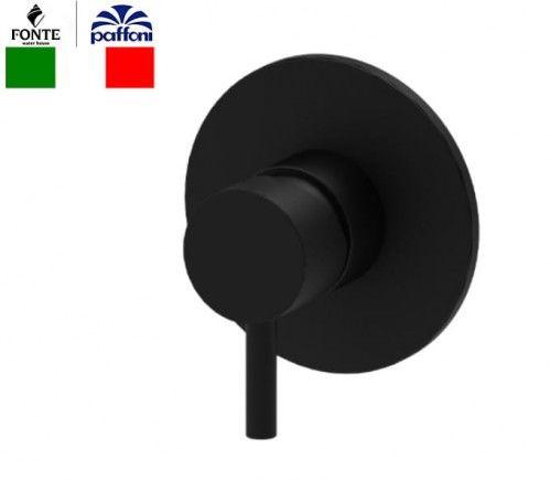 Bateria podtynkowa 1-drożna 11,6 cm, czarny mat Paffoni Light