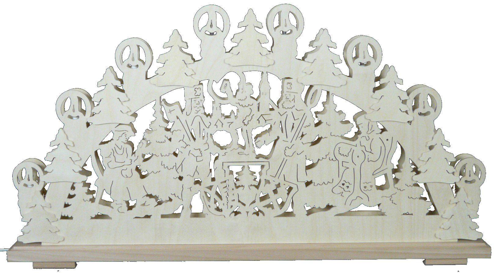 SchwibboLa SB 1-72 świecznik z Rudaw, podwójnie podświetlany, z certyfikatem SB 1-72, 70 x 42 cm