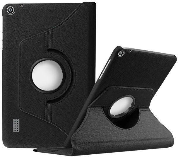 Etui obrotowe 360 do Huawei MediaPad T3 7.0 Czarne - Czarny