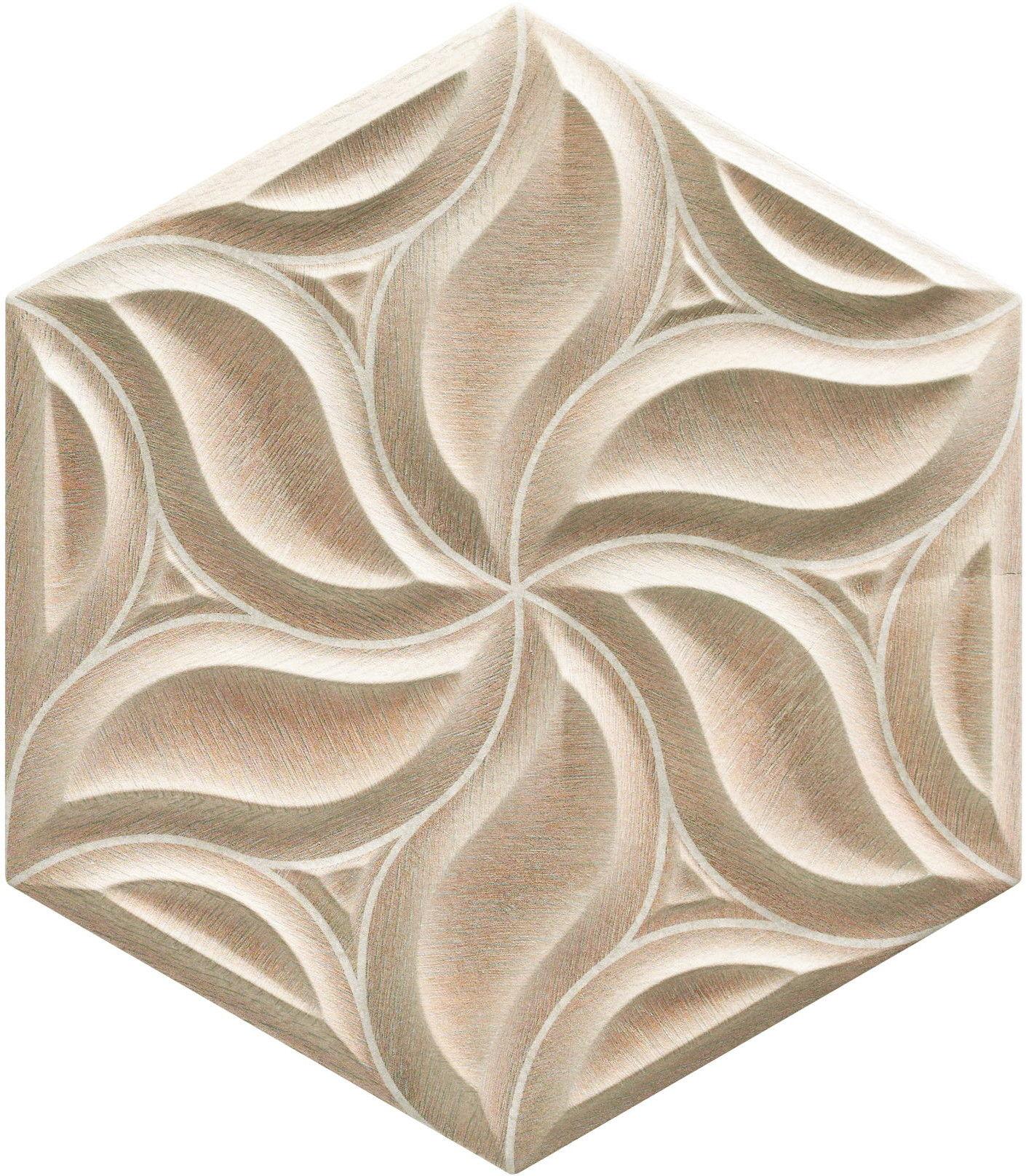 Ivy Walnut 28,5x33 płytki heksagonalne ścienne
