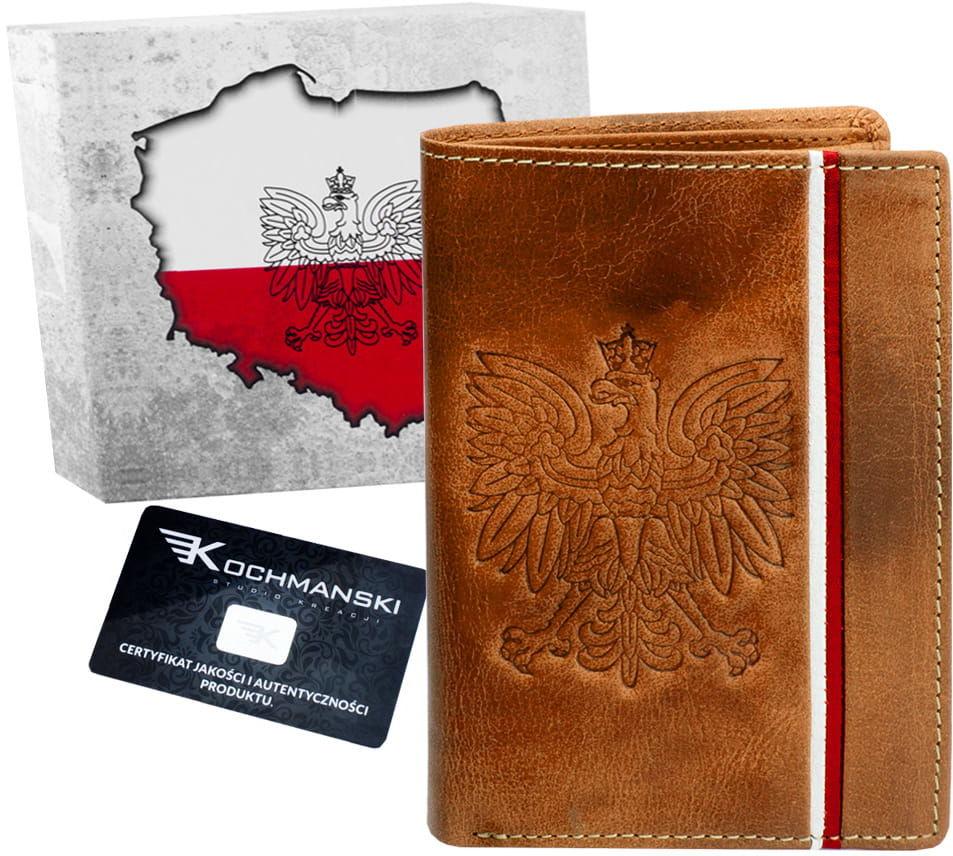 KOCHMANSKI portfel męski skórzany Z ORŁEM 1352