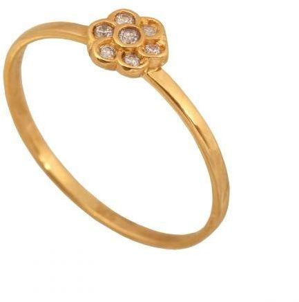 Złoty pierścionek młodzieżowy Pi357
