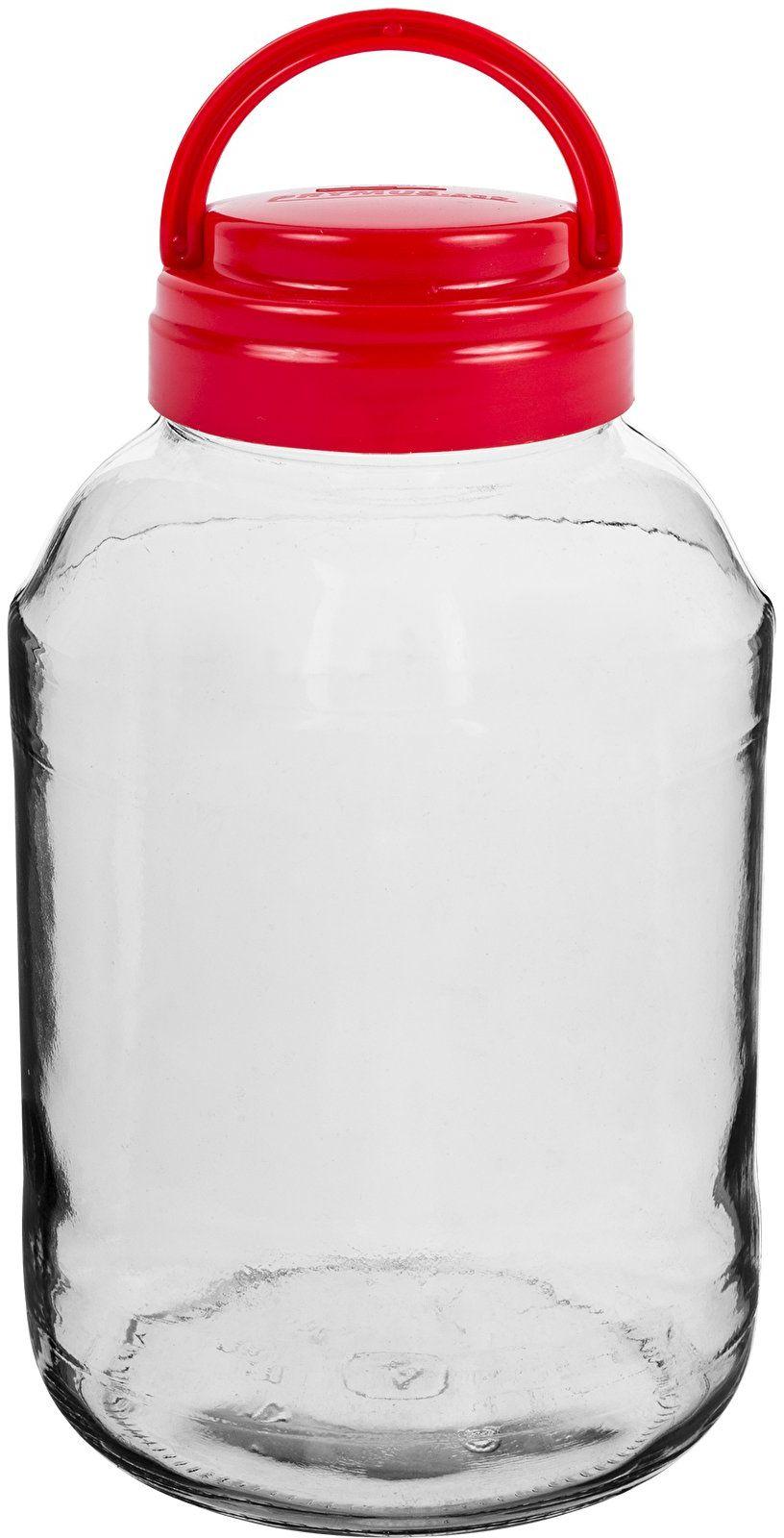 Słoik 4 L z plastikową zakrętką