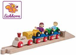 Eichhorn 100001361  drewniana szyna, pociąg samochodowy