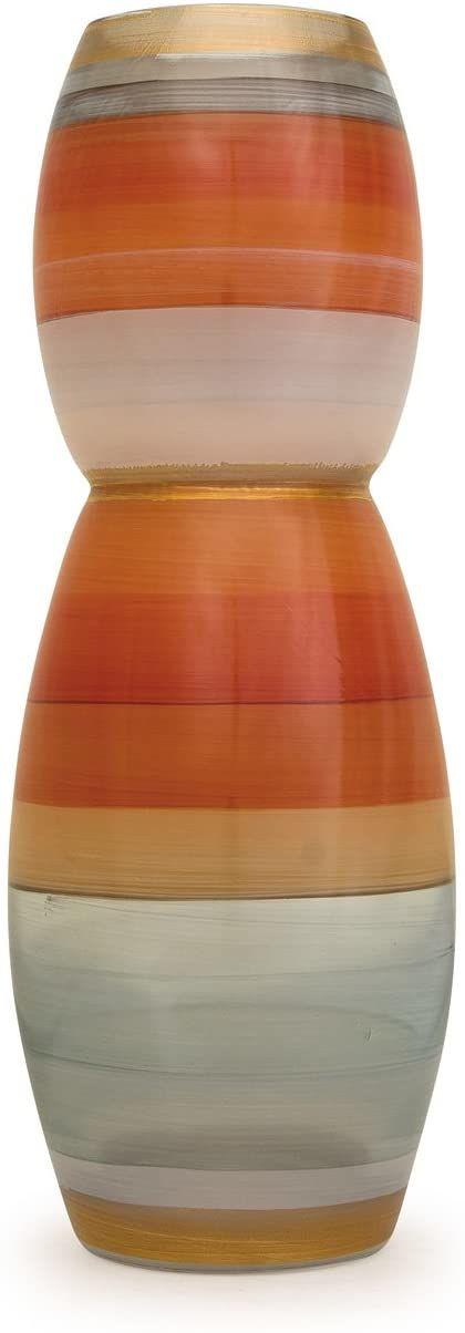Angela neue Wiener Werkstaette Szklany wazon uszlachetniony, szkło, pomarańczowy, 9 x 9 x 25 cm