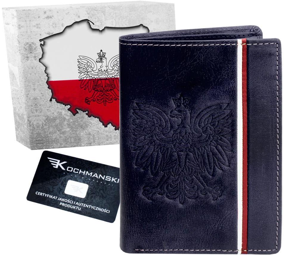 KOCHMANSKI portfel męski skórzany Z ORŁEM 1353