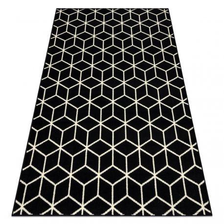 Dywan BCF BASE Cube 3956 Sześcian czarny / kość słoniowa 120x160 cm