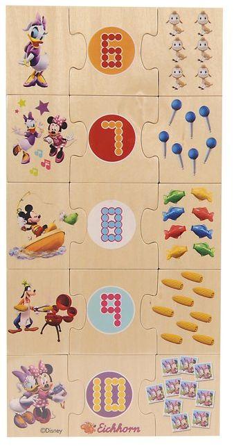 Eichhorn 100003300 - Myszka Miki drewno puzzle edukacyjne