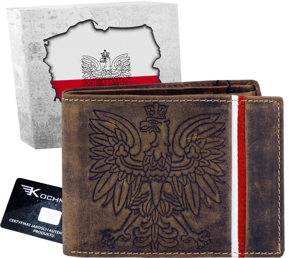 KOCHMANSKI portfel męski skórzany Z ORŁEM 1355