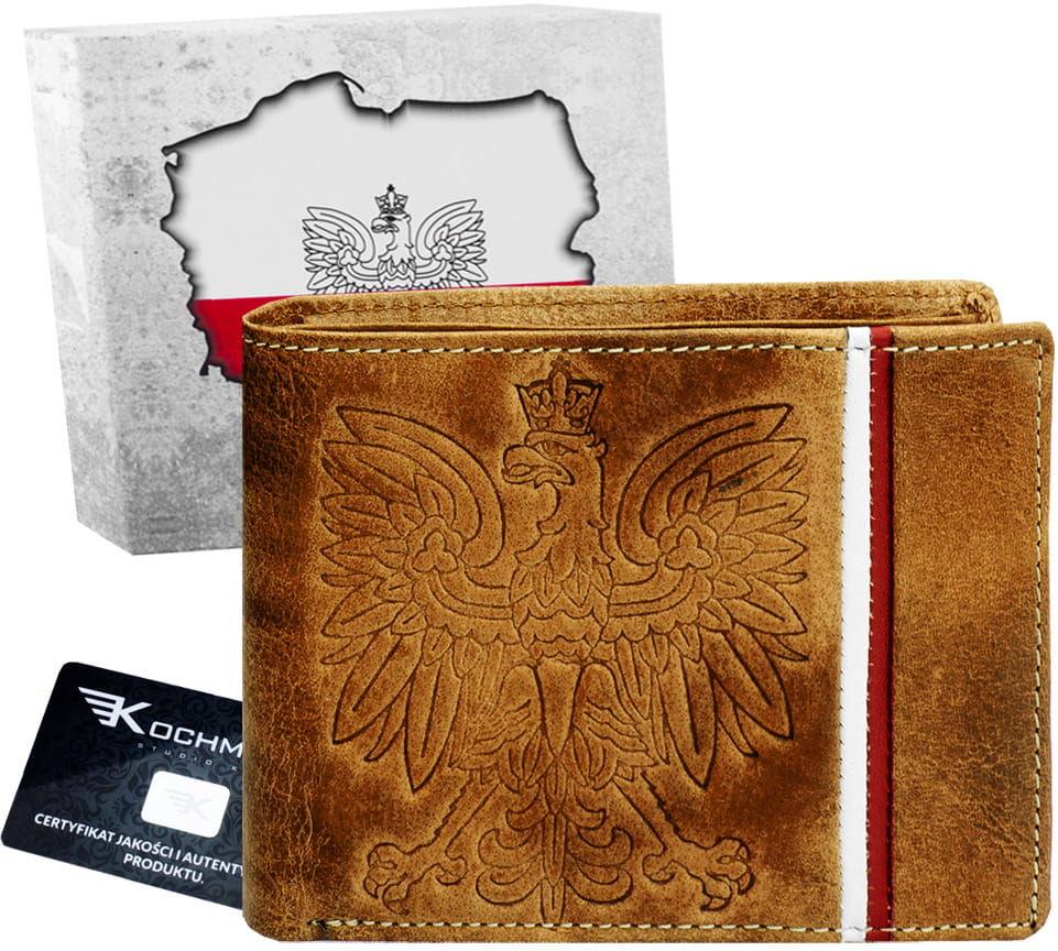 KOCHMANSKI portfel męski skórzany Z ORŁEM 1356