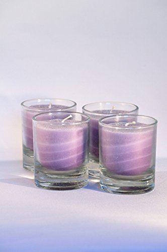 Palm Light - Zestaw 4 świec Nuance w kolorze fioletowym, wysokość ok. 6 cm