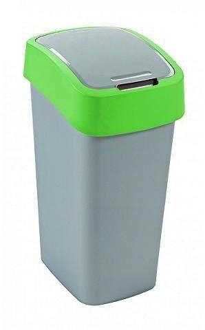 Kosz na śmieci 10L Flip Bin srebrny/zielony