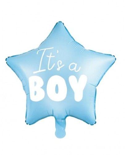 """Balon foliowy Gwiazdka """"It''s a Boy"""" niebieski"""