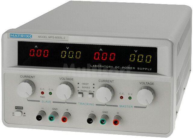 Zasilacz laboratoryjny z regulacją napięcia i prądu Kanały:2 0-60V 5A