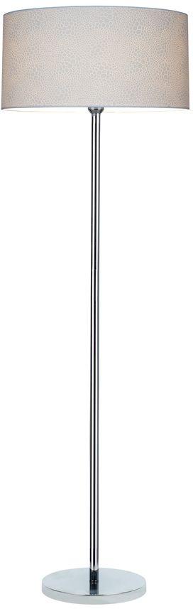 Spot Light 6651028 Leila lampa podłogowa metalowa chrom/transparentny/biały (krokodyl) 1xE27 60W 166cm