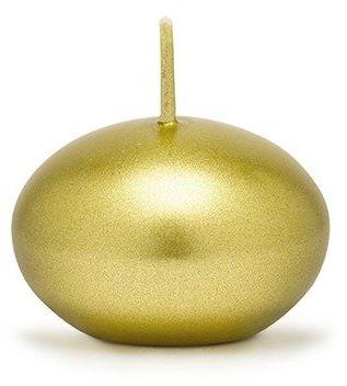 Świece pływające złote metalizowane 4cm 50 sztuk SDMET40-019-50x