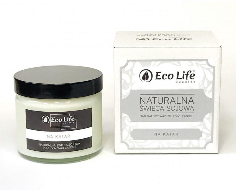 """Eco Life Naturalna Świeca Sojowa """"Na Katar"""" Aromaterapia"""