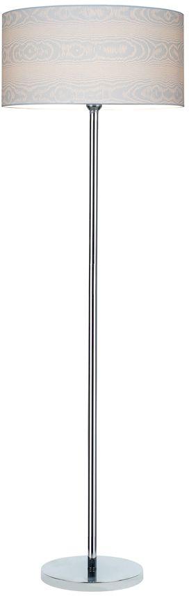 Spot Light 6652028 Leila lampa podłogowa metalowa chrom/transparentny/biały (drewno) 1xE27 60W 166cm