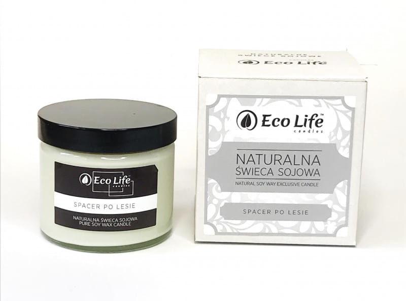 "Eco Life Naturalna Świeca Sojowa ""Spacer Po Lesie""Aromaterapia"