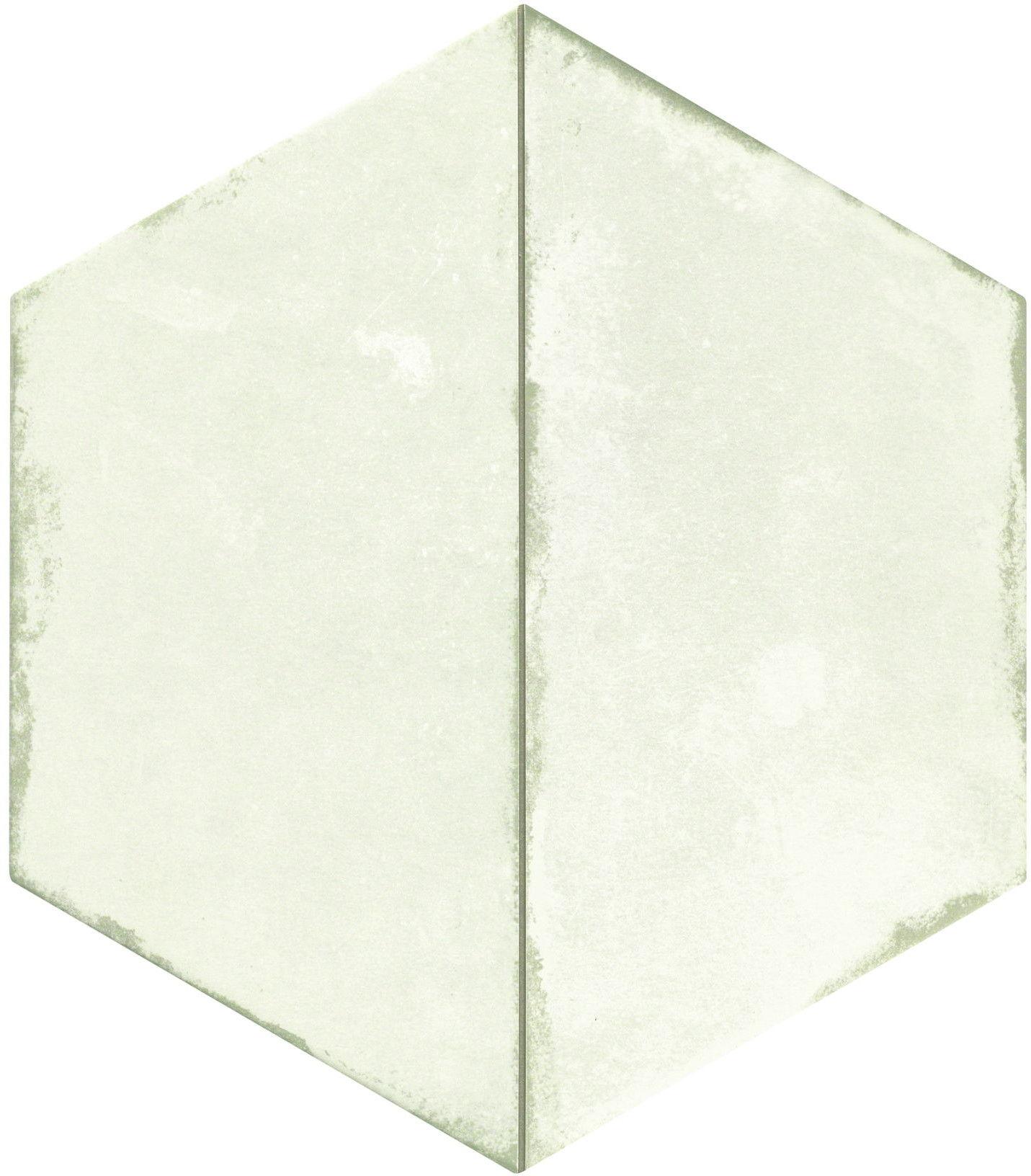 Trapez Vintage White 28,5x33 płytki heksagonalne