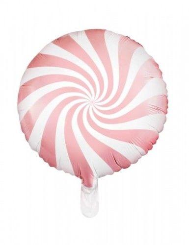 Balon foliowy Candy - Cukierek, jasny różowy