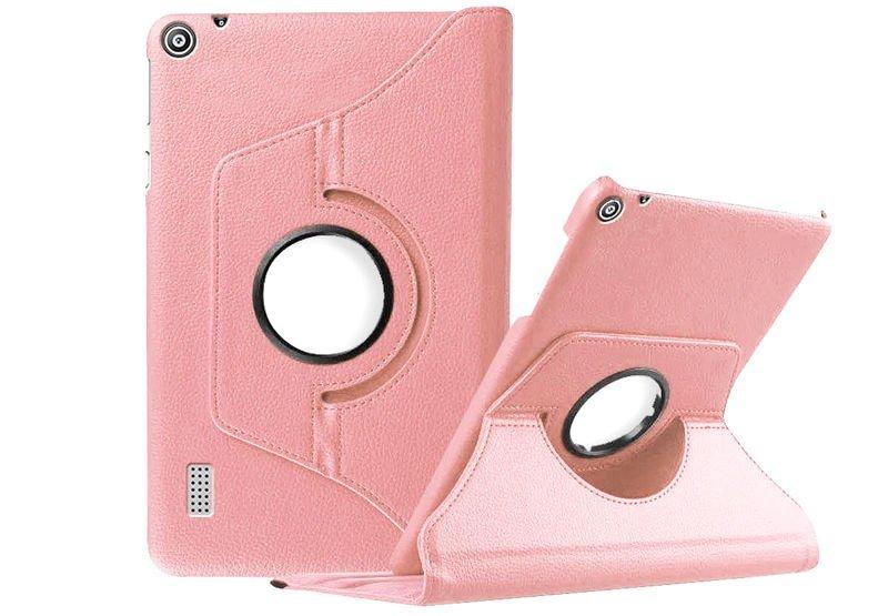 Etui obrotowe 360 do Huawei MediaPad T3 7.0 Różowe - Różowy