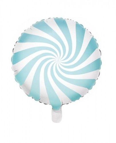 Balon foliowy Candy - Cukierek, jasny niebieski
