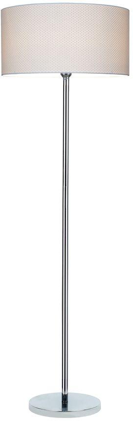 Spot Light 6654028 Leila lampa podłogowa metalowa chrom/transparentny/biały (kropki) 1xE27 60W 166cm