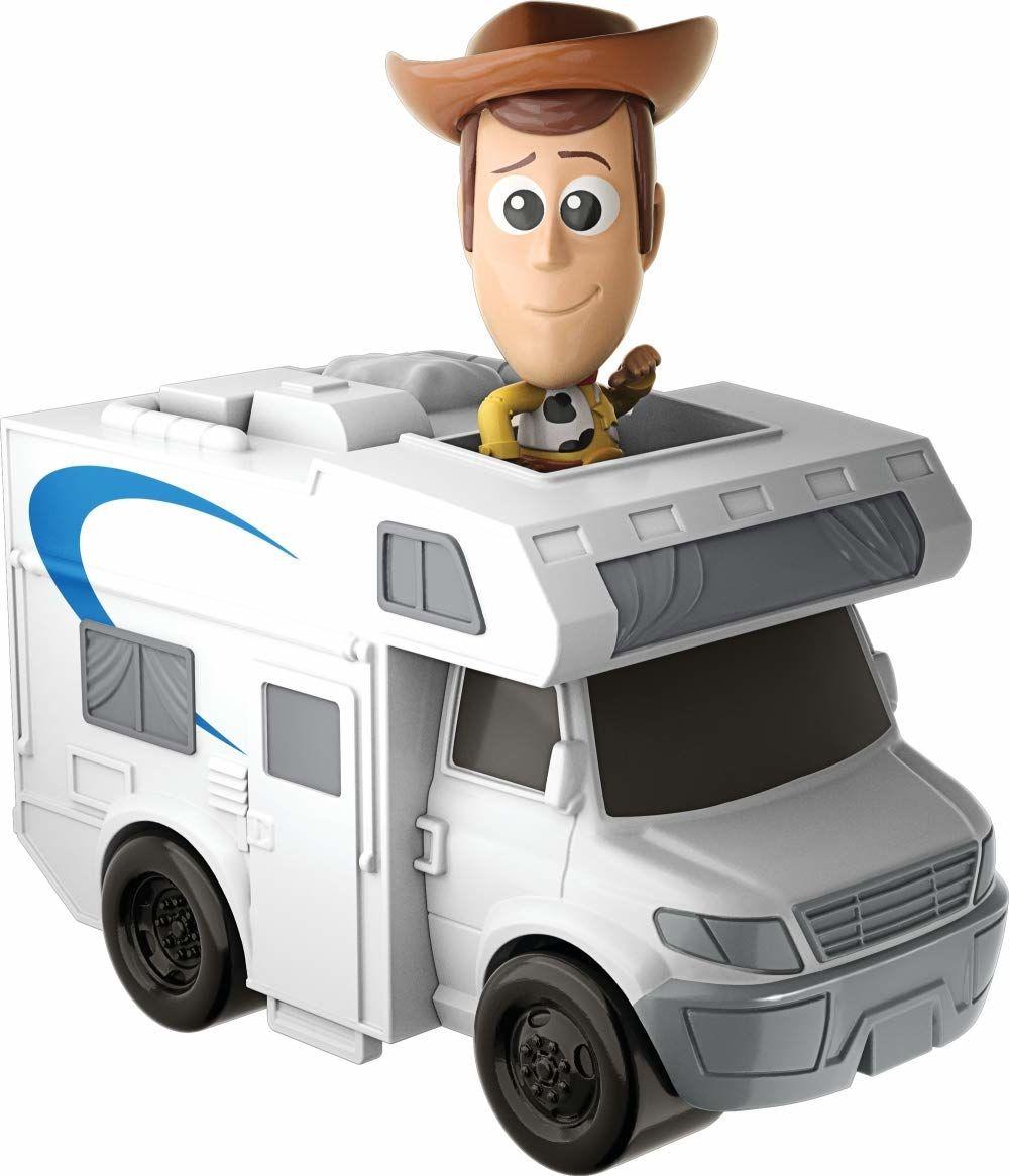 Mattel GCY61 - Disney Pixar Toy Story 4 Minis Woody i kamper, figurki kolekcjonerskie z pojazdami, zabawki od 3 lat