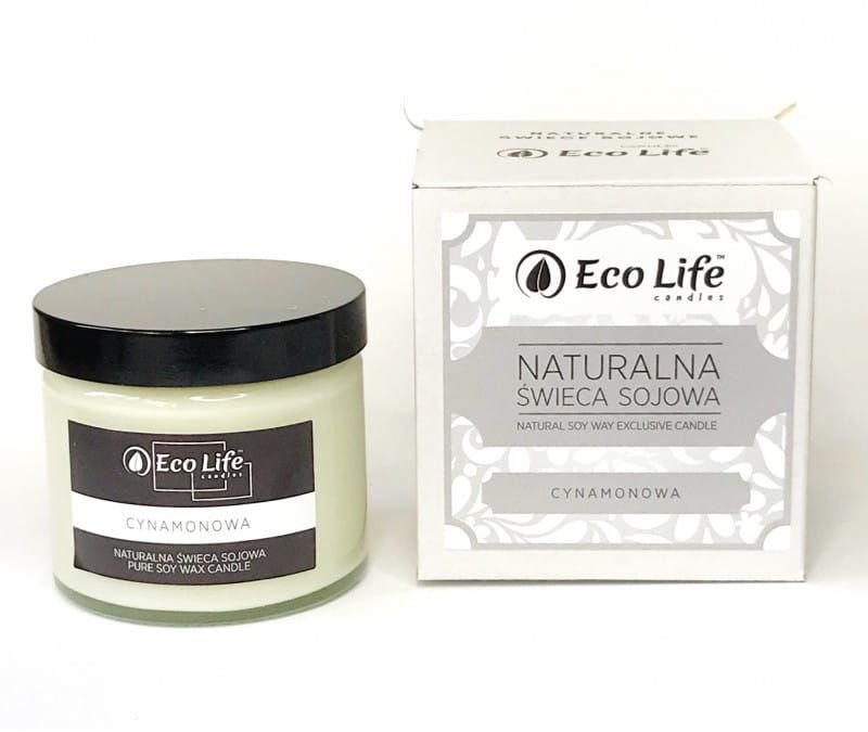 "Eco Life Naturalna Świeca Sojowa ""Cynamonowa"" Aromaterapia"