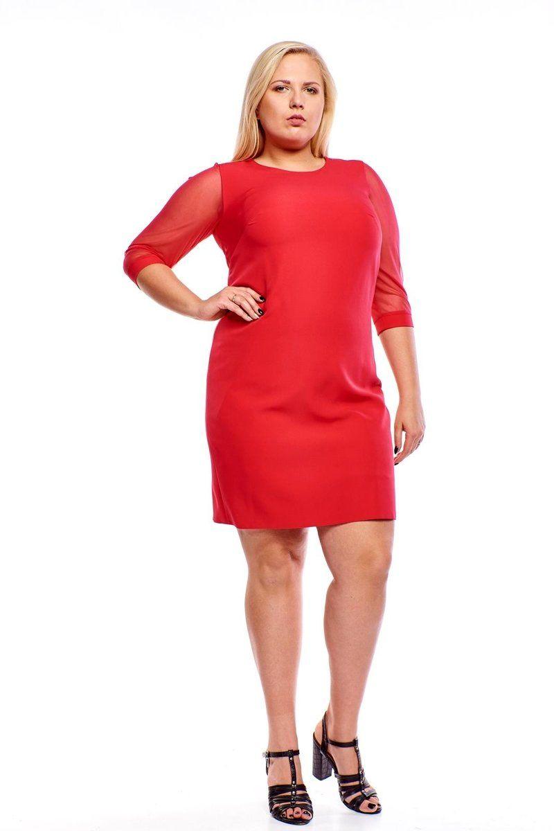 Sukienka FSU903 MALINOWY