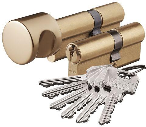 Zestaw wkładek Wilka klasa 6/C komplet 30/40+40G/30 mosiądz 6 kluczy