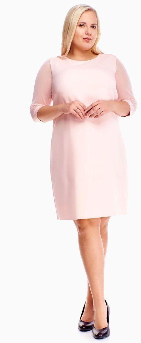 Sukienka FSU903 ŁOSOSIOWY JASNY