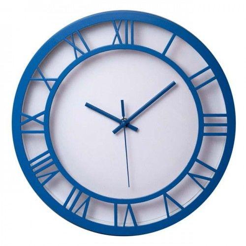 Zegar ścienny roman niebieski