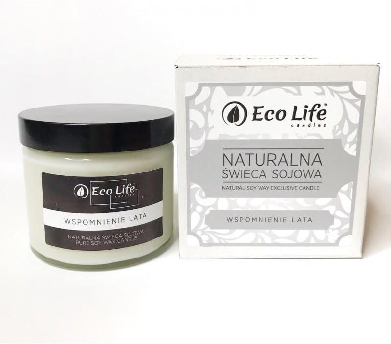 """Eco Life Naturalna Świeca Sojowa""""Wspomnienie Lata"""" Aromaterapia"""