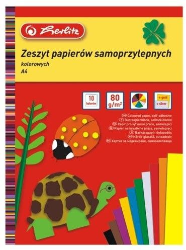 Wycinanki samoprzylepne Herlitz A4 - kolorowe - 10 kartek