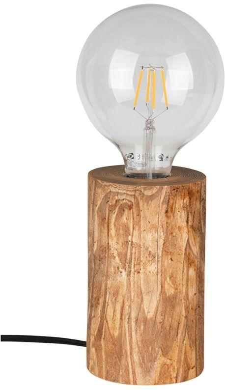 Spot Light 76910151 Trabo Table lampa stołowa sosna bejcowana/czarny PVC 1xE27 25W 15cm
