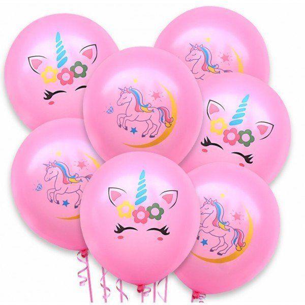 Zestaw balonów Jednorożec różowe 20 sztuk 30cm ZB44
