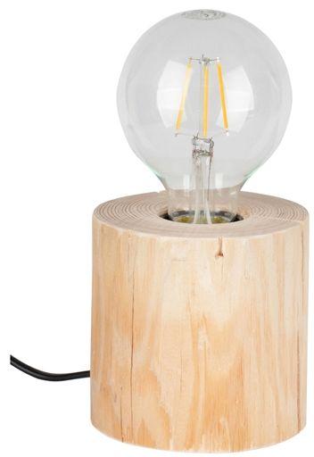 Spot Light 76911150 Trabo Table lampa stołowa sosna naturalna/czarny PCV 1xE27 25W 10cm