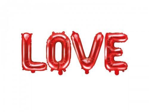 Balon foliowy napis LOVE, czerwony