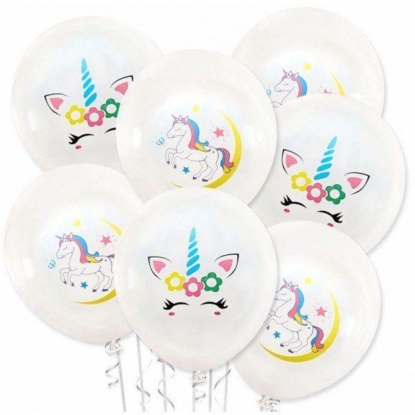 Zestaw Balonów Jednorożec białe 20 sztuk 30cm ZB45