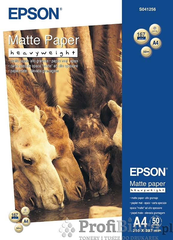 Papier Epson Heavy Weight Matte Paper - 167 g/m2 - A4 - 50 szt.