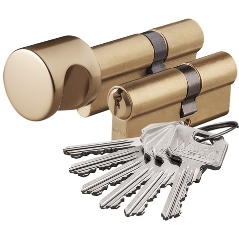 Zestaw wkładek Wilka klasa 6/C komplet 30/45+45G/30 mosiądz 6 kluczy