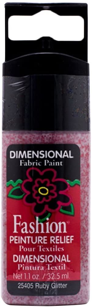 Mod Podge Fashion Fabrics kolorowy błyszczący rubin, materiał syntetyczny, czerwony, 11,5 x 3,3 x 2 cm