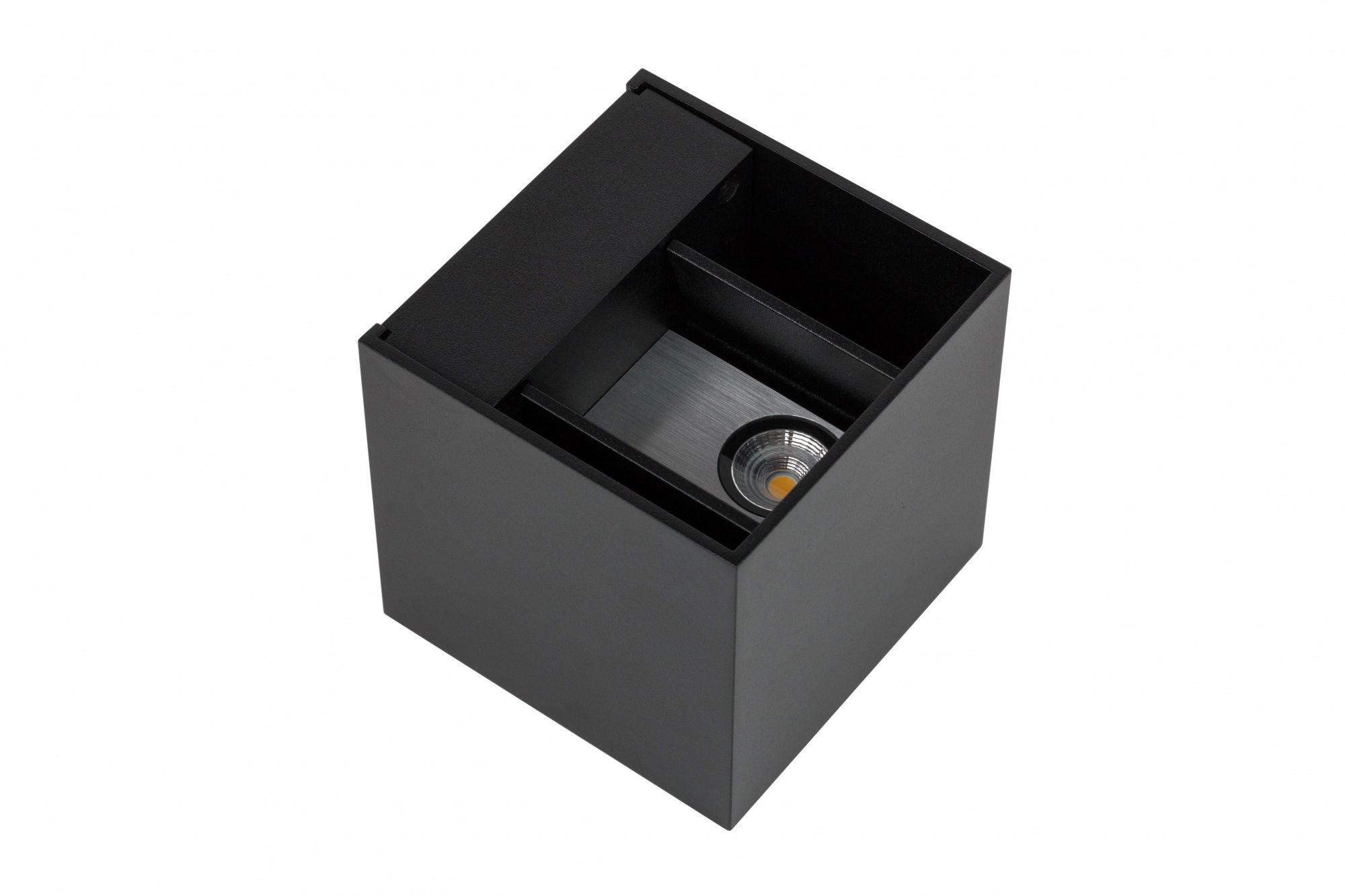 Kinkiet Cube 451790 Oxyled oprawa czarna góra dół