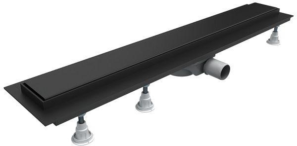 Schedpol Base-Low Black odpływ liniowy z maskownicą Steel 100x8x7cm czarny OLSL100/CST-LOW