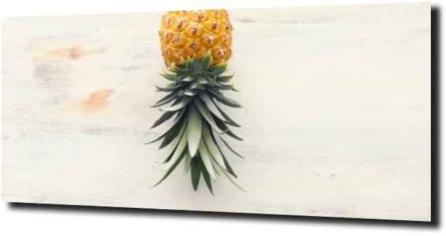 obraz na szkle Ananas drewno owoce 120X60