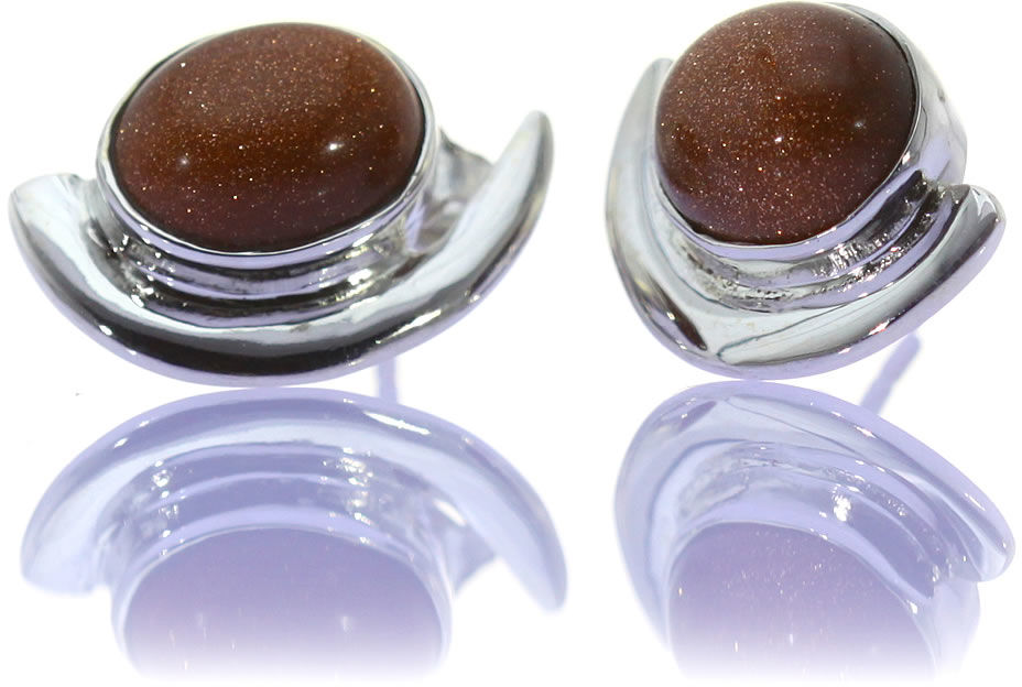 Kuźnia Srebra - Kolczyki srebrne, 18mm, Piasek Pustyni, 5g, model