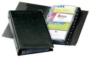 Wizytownik książkowy VISIFIX na 200 wizytówek z przekładkami czarny 2383 01